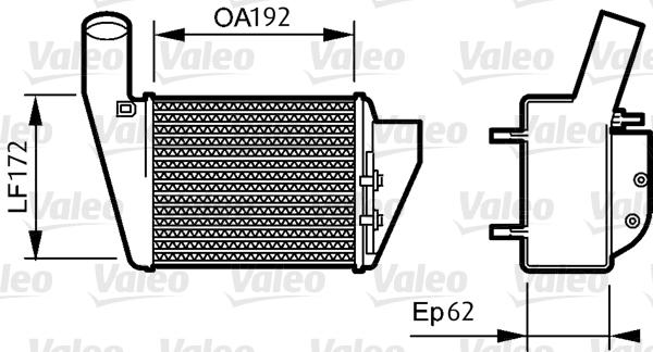 Intercooler radiateur de turbo VALEO 818828 (X1)