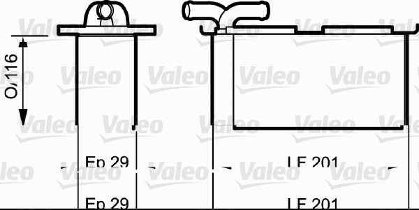 Intercooler radiateur de turbo VALEO 818838 (X1)