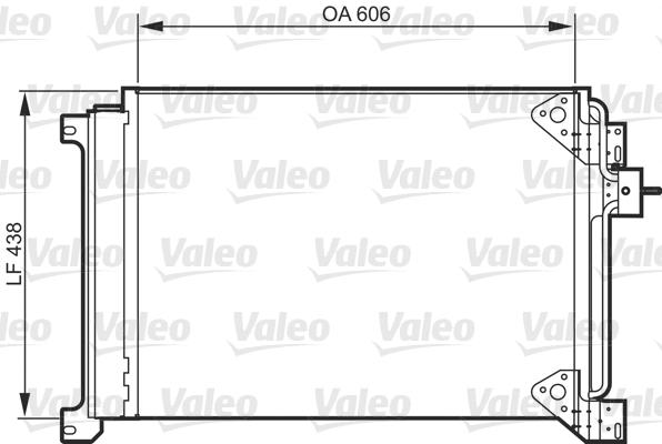 Condenseur / Radiateur de climatisation VALEO 818985 (X1)