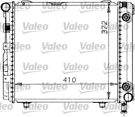 Radiateur de refroidissement VALEO 819201 (X1)