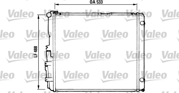 Radiateur de refroidissement VALEO 819377 (X1)