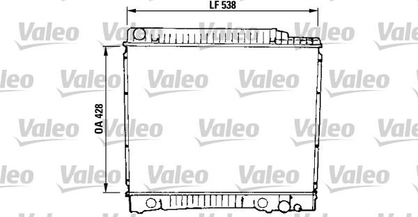 Radiateur de refroidissement VALEO 819379 (X1)