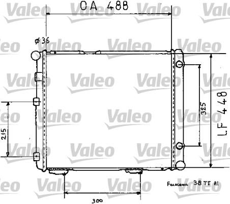 Radiateur de refroidissement VALEO 819383 (X1)