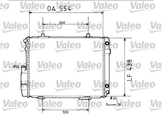 Radiateur de refroidissement VALEO 819384 (X1)