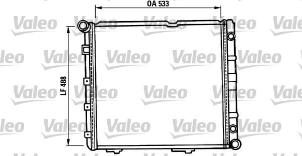 Radiateur de refroidissement VALEO 819387 (X1)