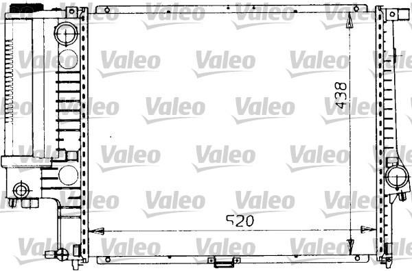 Radiateur de refroidissement VALEO 819412 (X1)