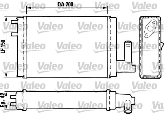 Radiateur de chauffage VALEO 883023 (X1)