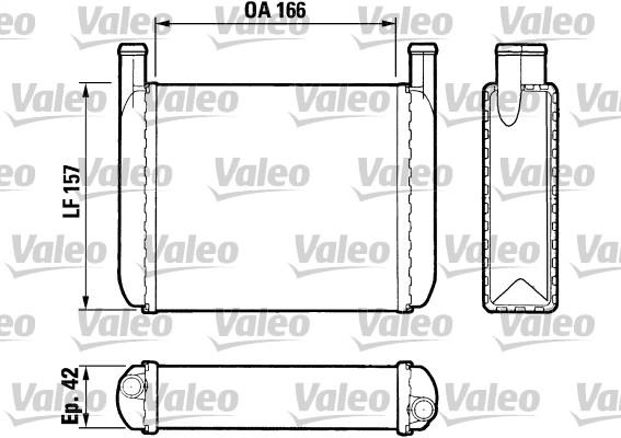 Radiateur de chauffage VALEO 883038 (X1)