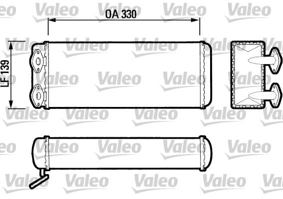 Radiateur de chauffage VALEO 883403 (X1)