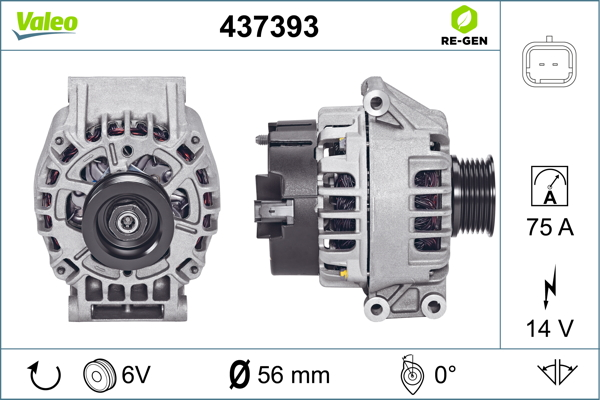 Alternateur VALEO 437393 (X1)