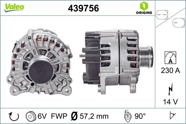 Alternateur VALEO 439756 (X1)