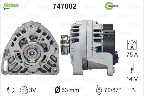 Alternateur VALEO 747002 (X1)