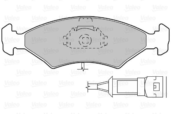 Plaquettes de frein avant VALEO 598042 (Jeu de 4)