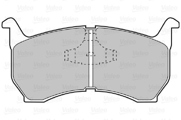 Plaquettes de frein avant VALEO 598239 (Jeu de 4)