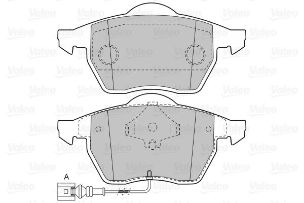 Plaquettes de frein avant VALEO 598355 (Jeu de 4)
