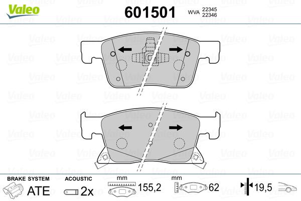 Brembo p59091 plaquette de frein Opel ASTRA K//ASTRA K Sports Tourer 16 In à l/'avant