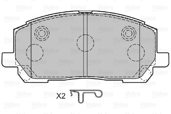 Plaquettes de frein VALEO 598944 (Jeu de 4)