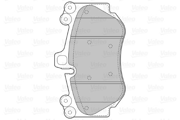 Plaquettes de frein avant VALEO 598709 (X1)