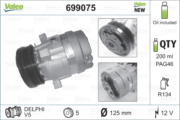 Compresseur VALEO 699075 (X1)