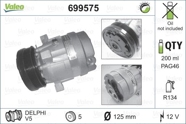 Compresseur VALEO 699575 (X1)