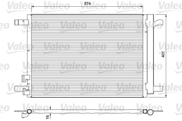 Condenseur / Radiateur de climatisation VALEO 814375 (X1)
