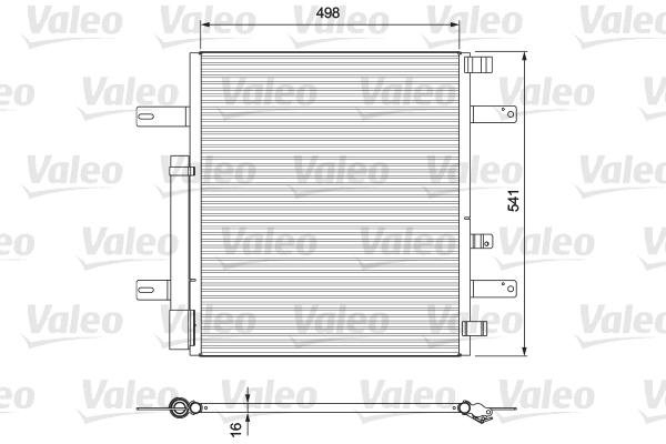 Condenseur / Radiateur de climatisation VALEO 815061 (X1)