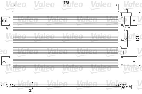 Condenseur / Radiateur de climatisation VALEO 815064 (X1)