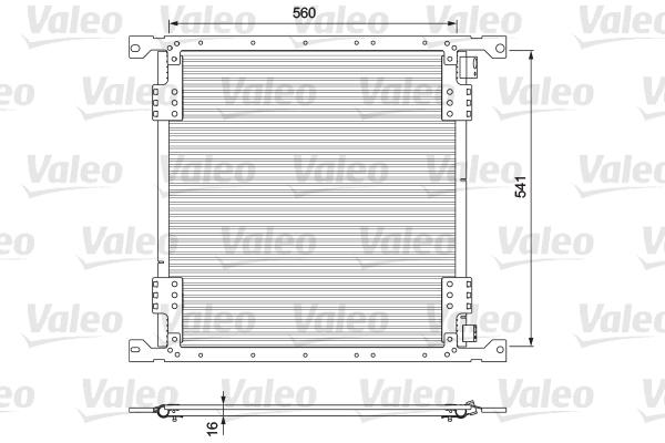 Condenseur / Radiateur de climatisation VALEO 815088 (X1)