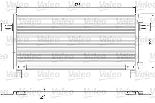 Condenseur / Radiateur de climatisation VALEO 815091 (X1)