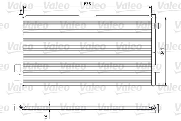 Condenseur / Radiateur de climatisation VALEO 815094 (X1)