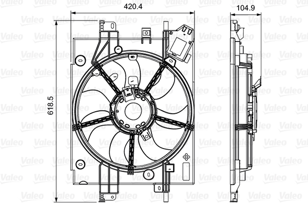 Ventilateur de radiateur VALEO 696550 (X1)
