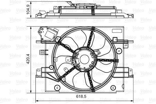Ventilateur de radiateur VALEO 696880 (X1)