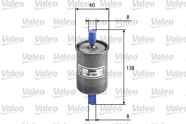Filtre a carburant VALEO 587003 (X1)