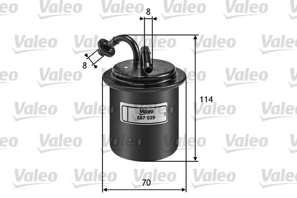 Filtre a carburant VALEO 587039 (X1)