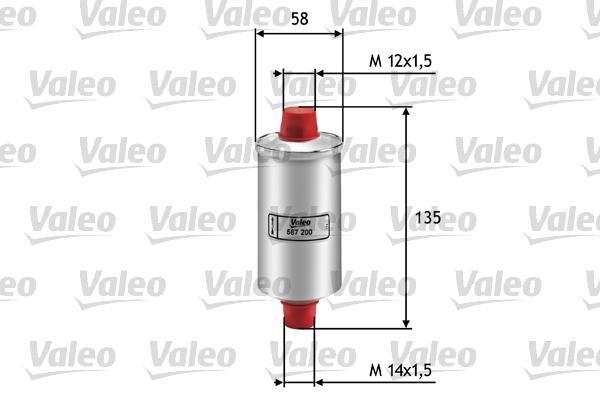 Filtre a carburant VALEO 587200 (X1)
