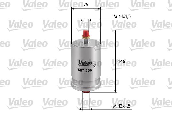 Filtre a carburant VALEO 587206 (X1)