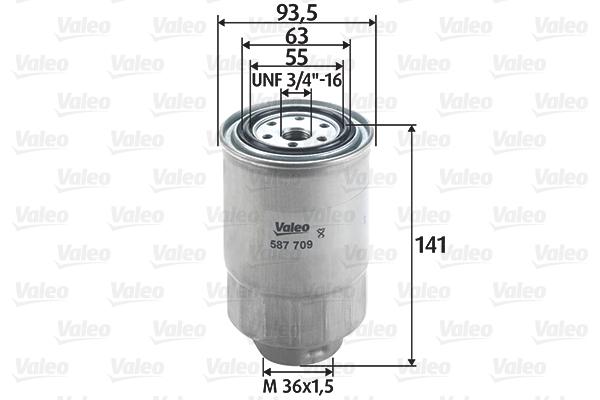 Filtre a carburant VALEO 587709 (X1)