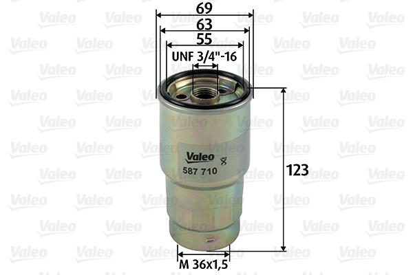 Filtre a carburant VALEO 587710 (X1)