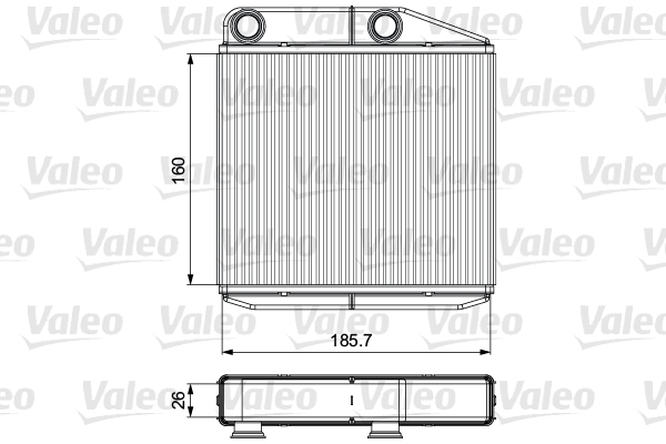 Radiateur de chauffage VALEO 811502 (X1)