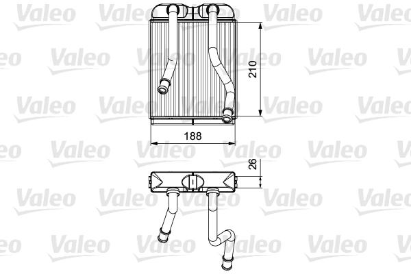 Radiateur de chauffage VALEO 811532 (X1)