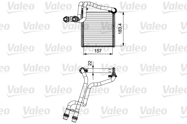 Radiateur de chauffage VALEO 811536 (X1)