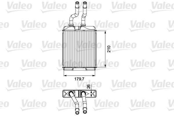 Radiateur de chauffage VALEO 812278 (X1)