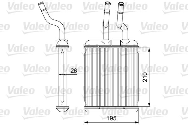 Radiateur de chauffage VALEO 812279 (X1)