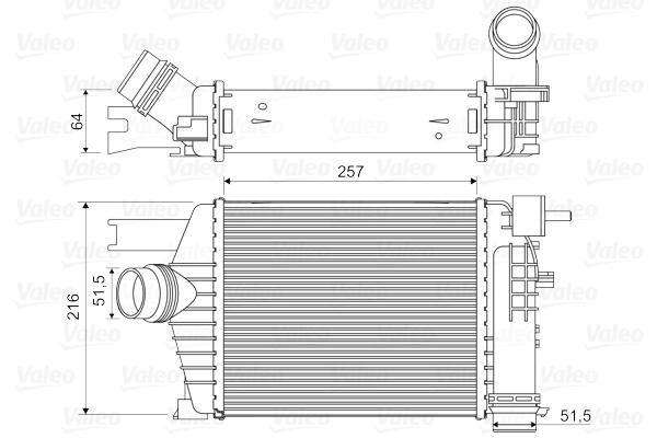 Intercooler radiateur de turbo VALEO 818343 (X1)