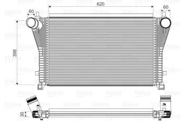 Intercooler radiateur de turbo VALEO 818347 (X1)