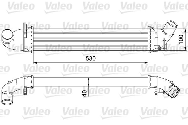 Intercooler radiateur de turbo VALEO 818544 (X1)