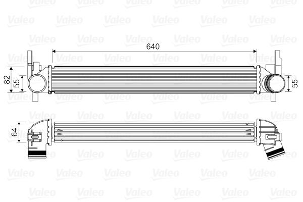 Intercooler radiateur de turbo VALEO 818574 (X1)