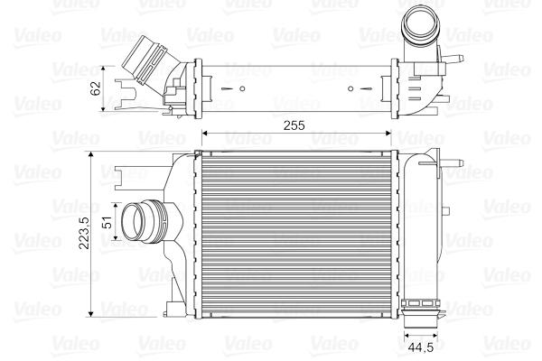 Intercooler radiateur de turbo VALEO 818609 (X1)