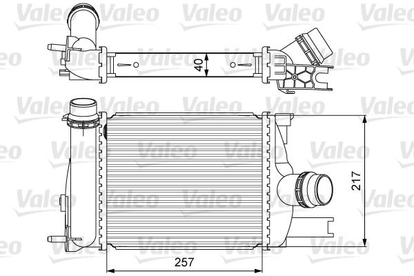 Intercooler radiateur de turbo VALEO 818622 (X1)