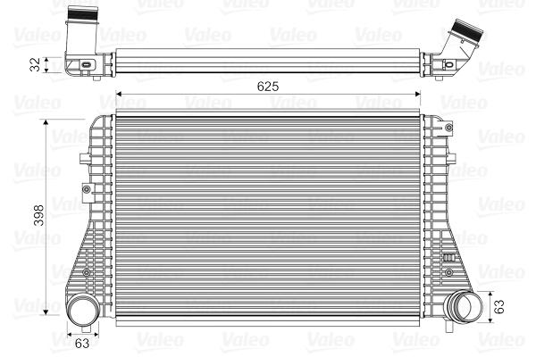 Intercooler radiateur de turbo VALEO 818674 (X1)